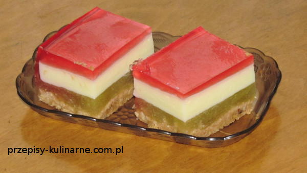 Ciasto z rabarbarem i budyniem (bez pieczenia)