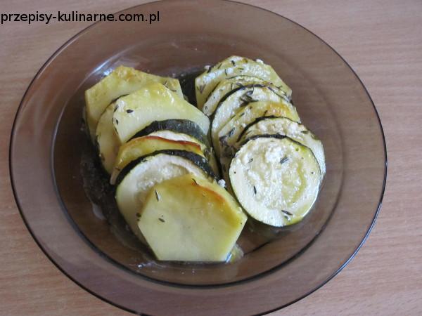 Zapiekana cukinia z ziemniakami