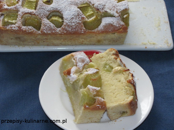 Ciasto piaskowe z rabarbarem